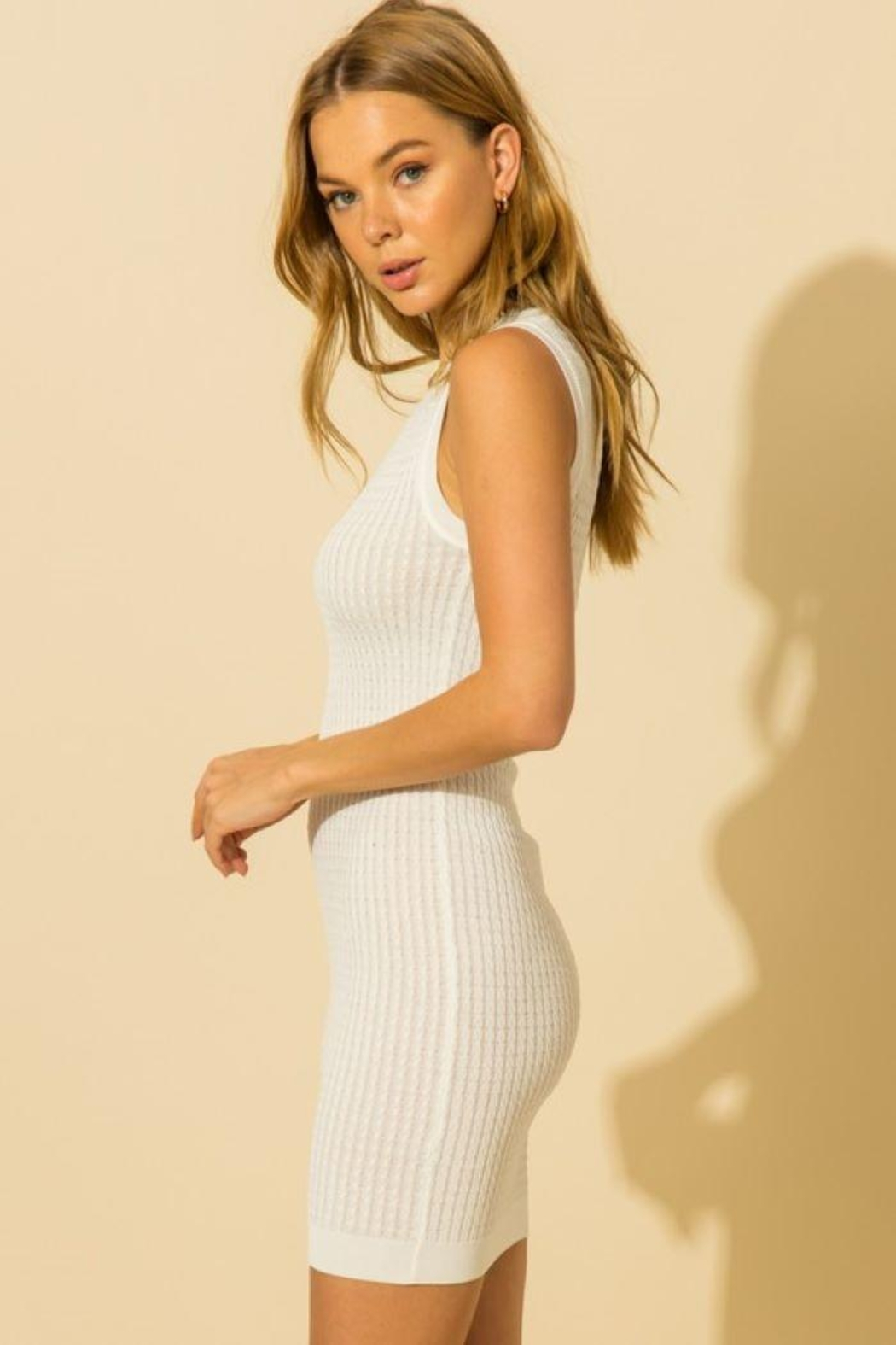 HYFVE Knitted Sleeveless Mini Dress - Side Cropped Image