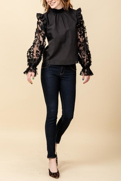 Shoptiques Product: Lace Sleeve Blouse