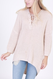 HYFVE Lace Up Sweater - Front cropped