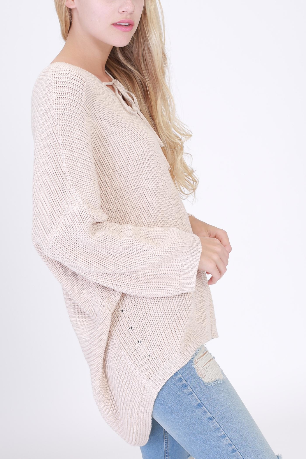 HYFVE Lace Up Sweater - Front Full Image