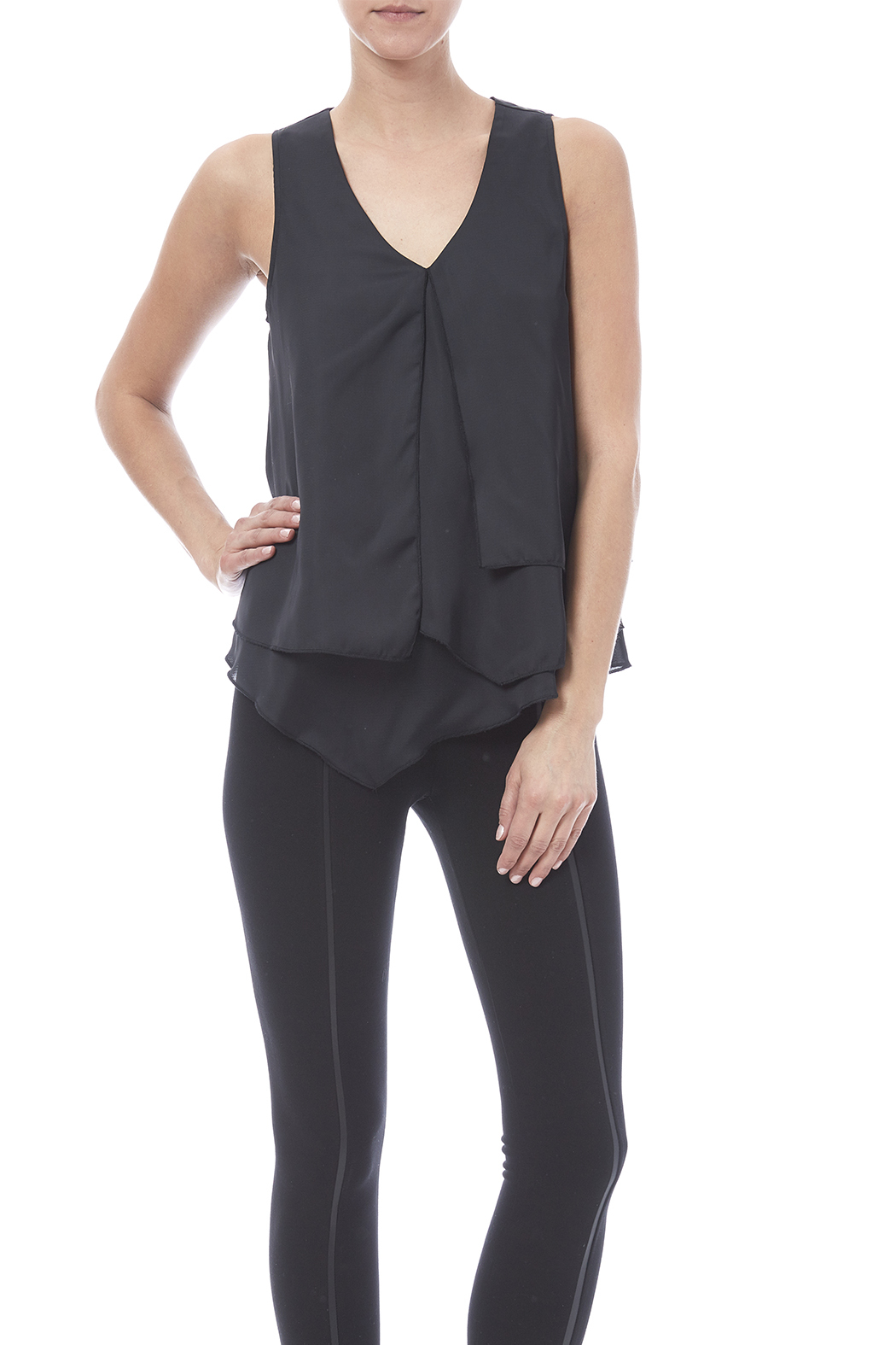 HYFVE Layered Look Blouse - Front Cropped Image