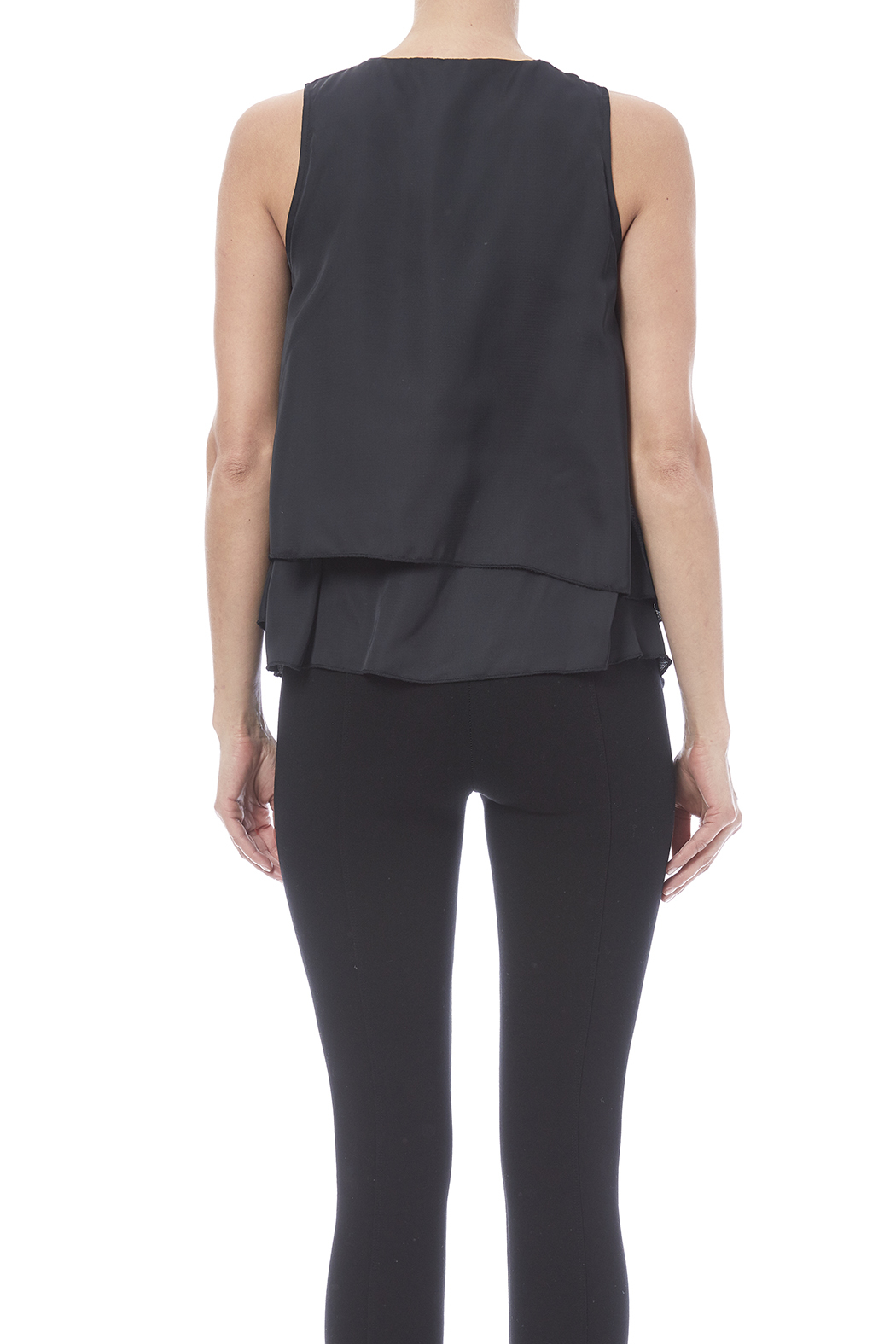 HYFVE Layered Look Blouse - Back Cropped Image