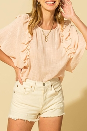 HYFVE Linen Ruffle Top - Front full body