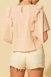 HYFVE Linen Ruffle Top - Back cropped