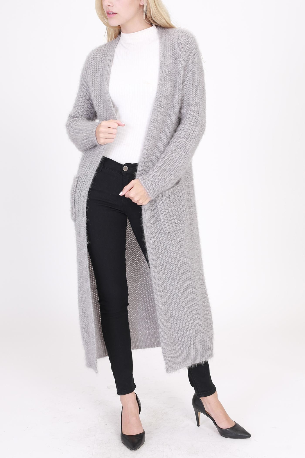 70f4058b462f HYFVE Long Fuzzy Cardigan from New York by Dor L Dor — Shoptiques