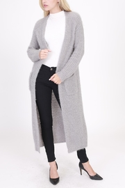 HYFVE Long Fuzzy Cardigan - Product Mini Image