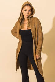 HYFVE Long Line Hooded Sweater - Front cropped