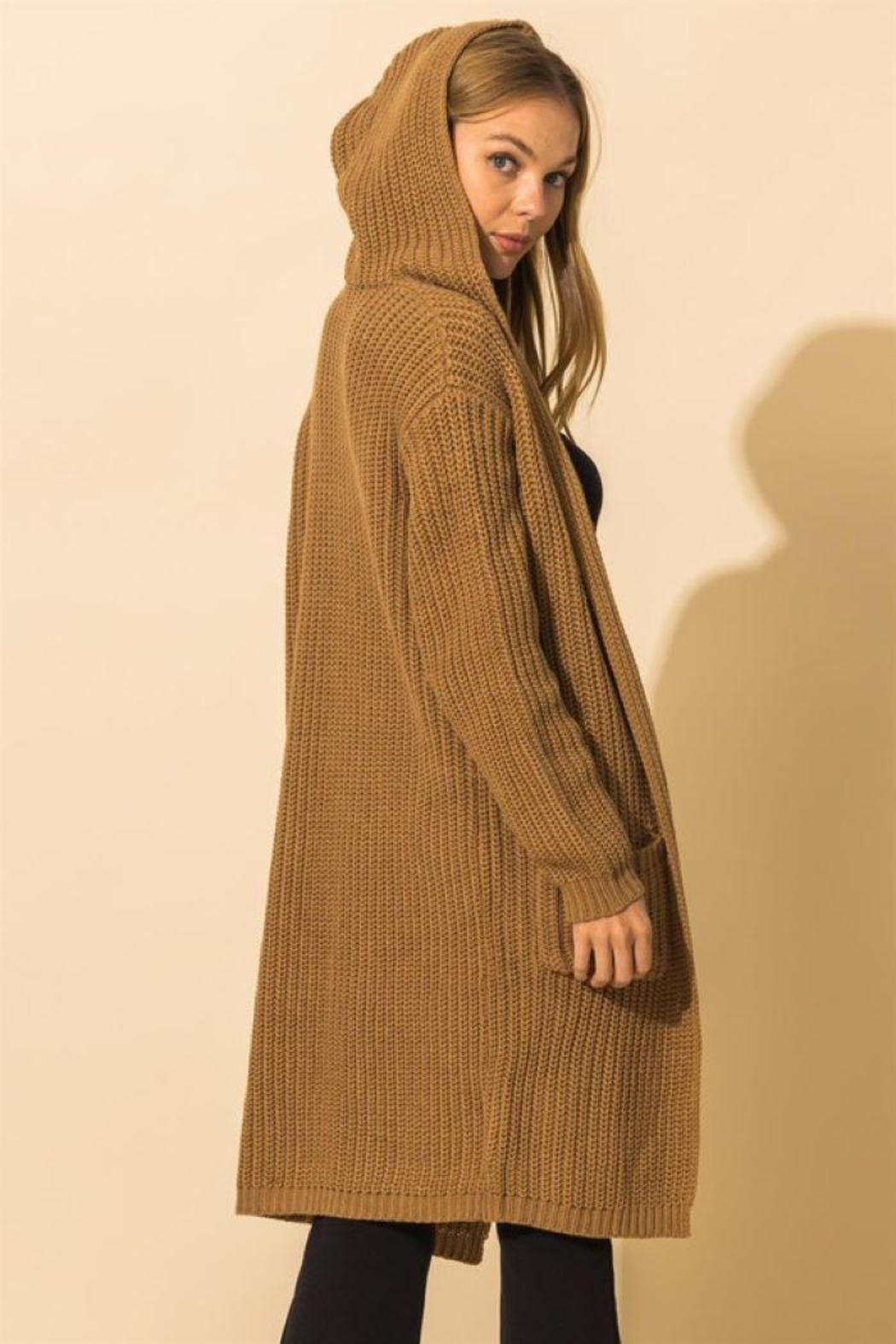 HYFVE Long Line Hooded Sweater - Side Cropped Image