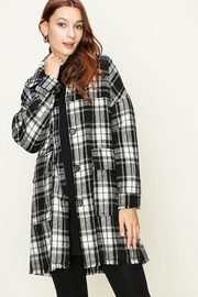 HYFVE Long Plaid Coat - Product Mini Image