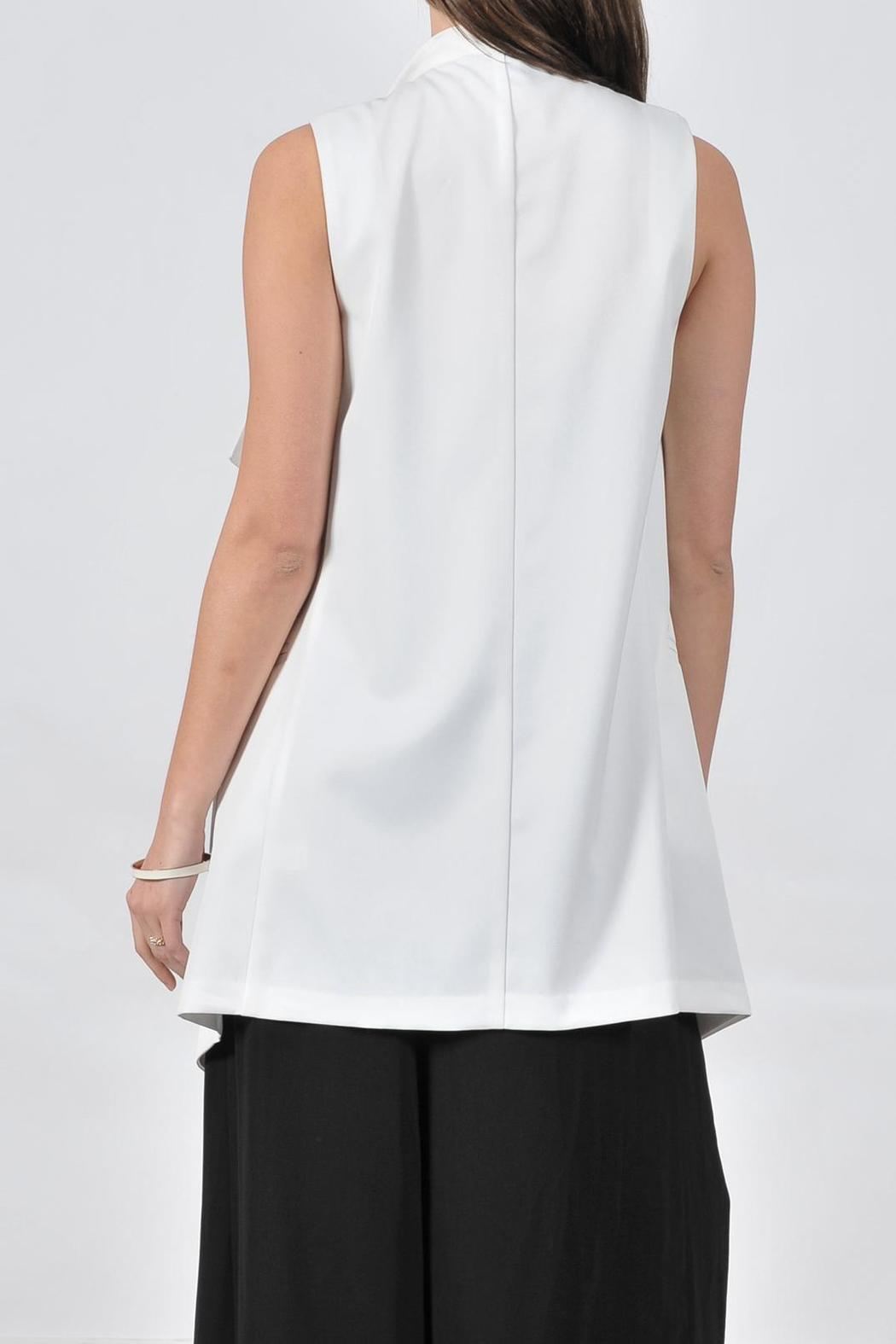 HYFVE Long White Vest - Front Full Image