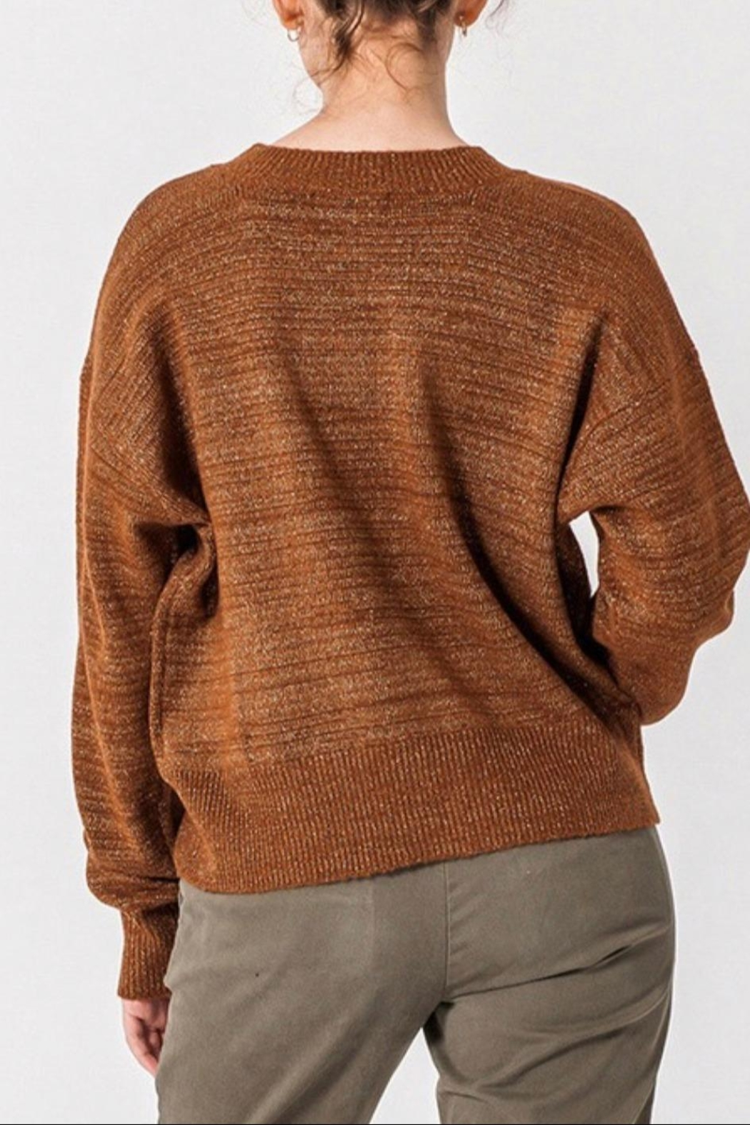 HYFVE Loose Fit Sweater - Side Cropped Image