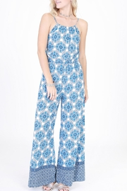 HYFVE Blue Printed Jumpsuit - Product Mini Image