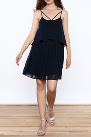 HYFVE Navy Flowy Dress - Front full body