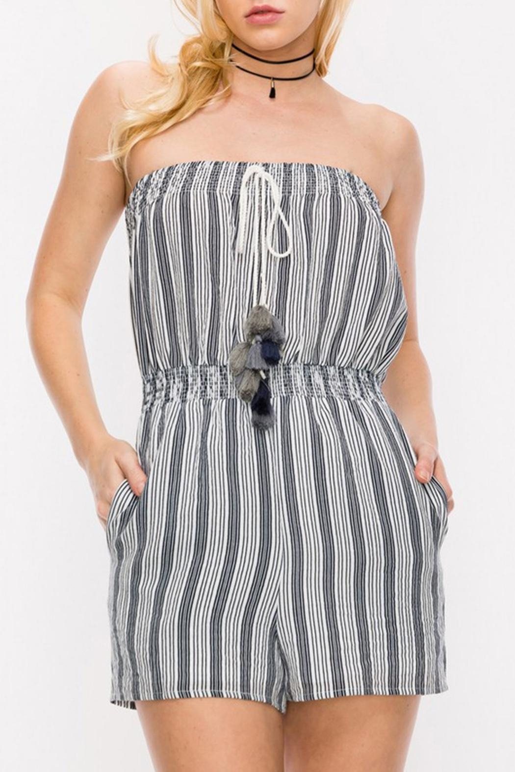 HYFVE Navy Tube Romper - Side Cropped Image