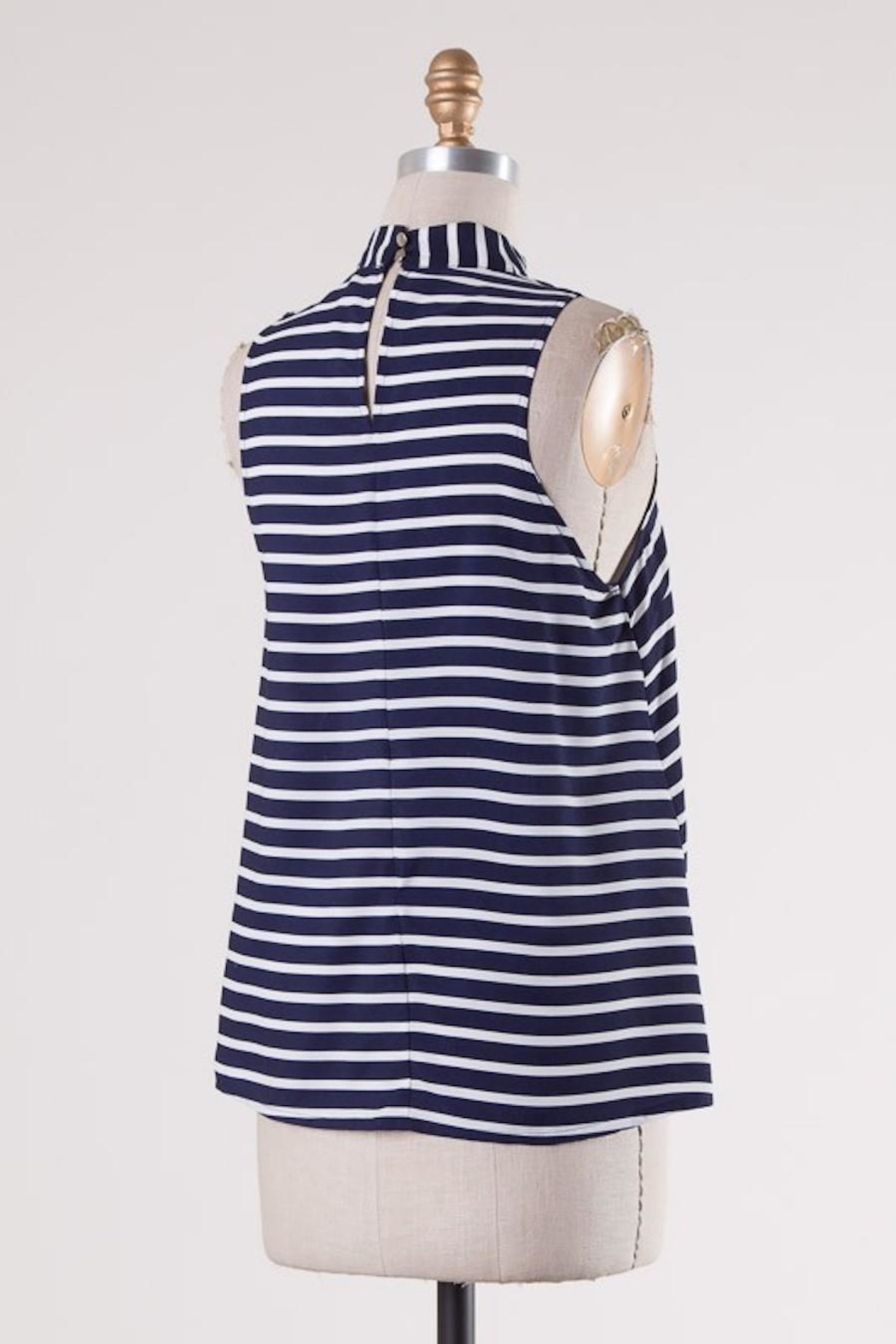 HYFVE Navy/white Stripes Choker - Side Cropped Image