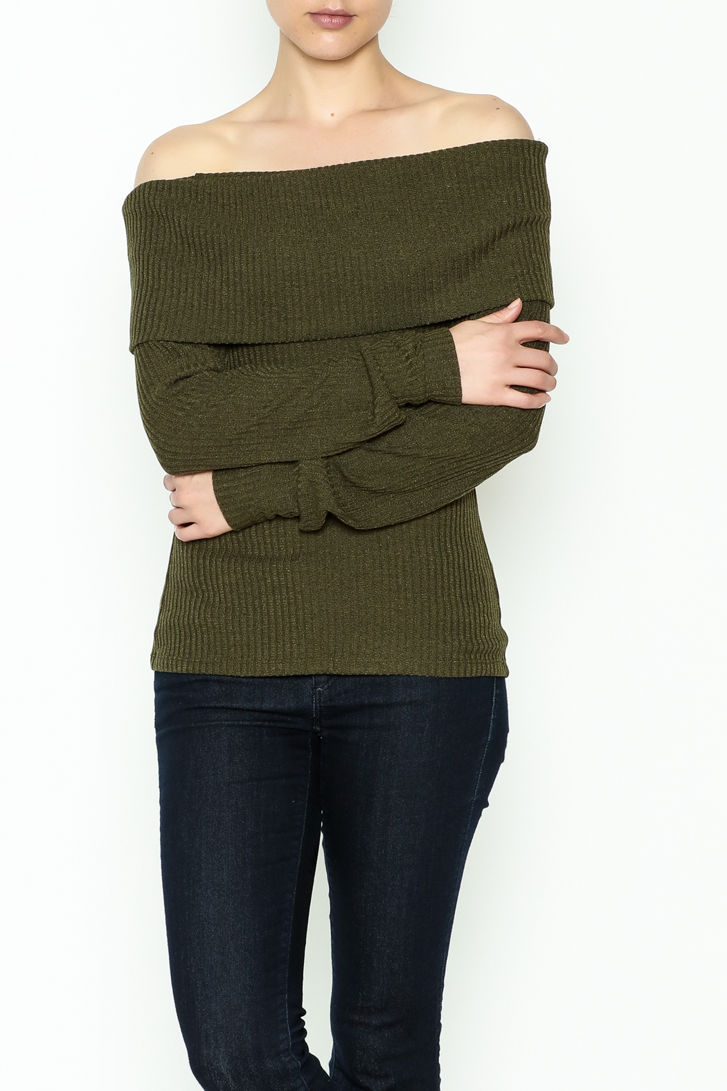 HYFVE Lace Up Back Sweater - Front Cropped Image