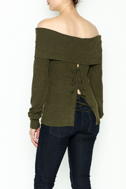 HYFVE Lace Up Back Sweater - Back cropped
