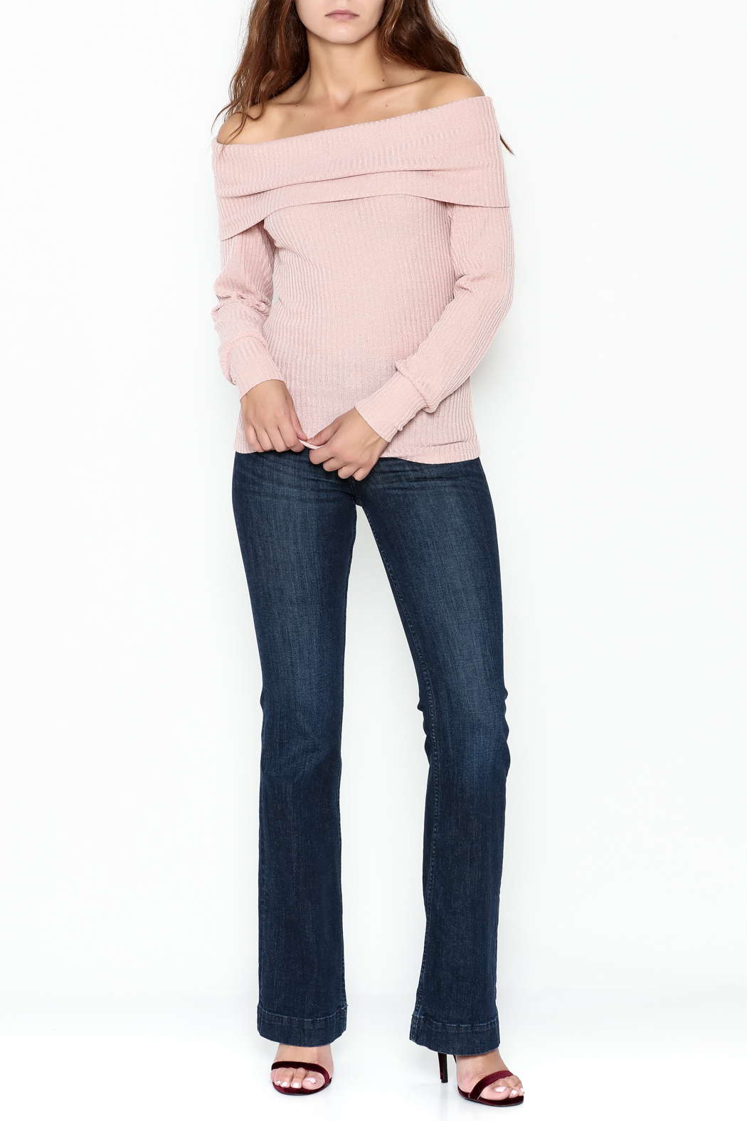 HYFVE Lace Up Back Sweater - Side Cropped Image