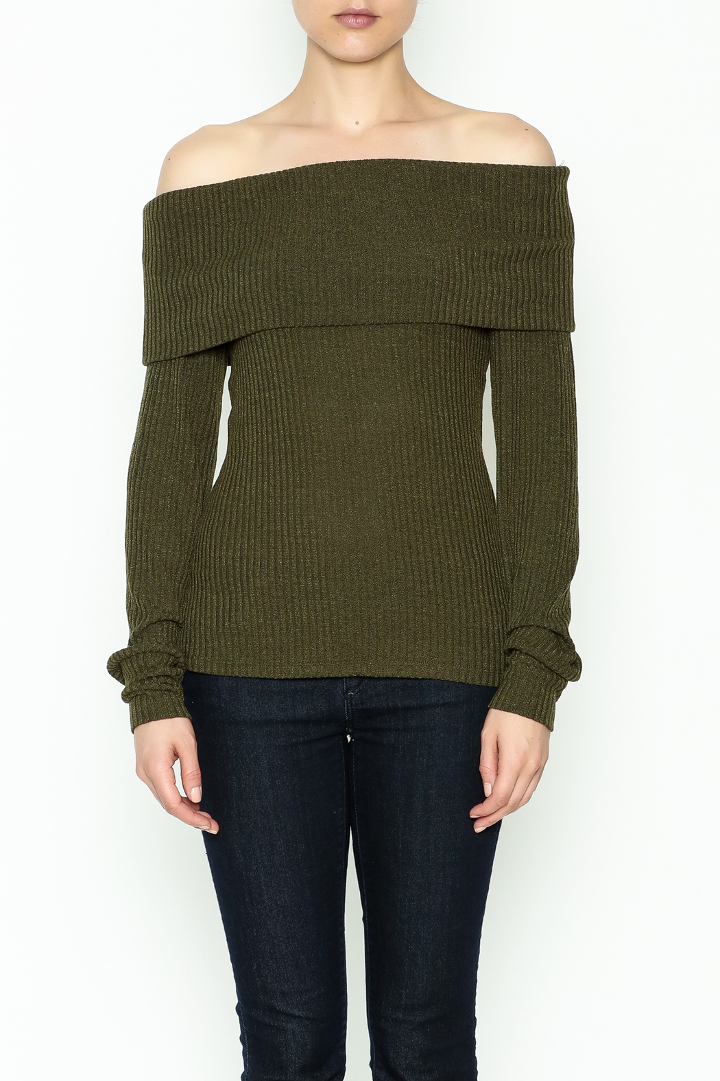 HYFVE Lace Up Back Sweater - Front Full Image