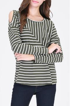 Shoptiques Product: Olive Striped Top