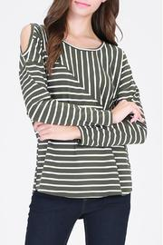 HYFVE Olive Striped Top - Product Mini Image