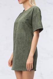 HYFVE Olive Suede Dress - Front full body