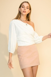 HYFVE One Shoulder Balloon Sleeve Blouse - Front cropped