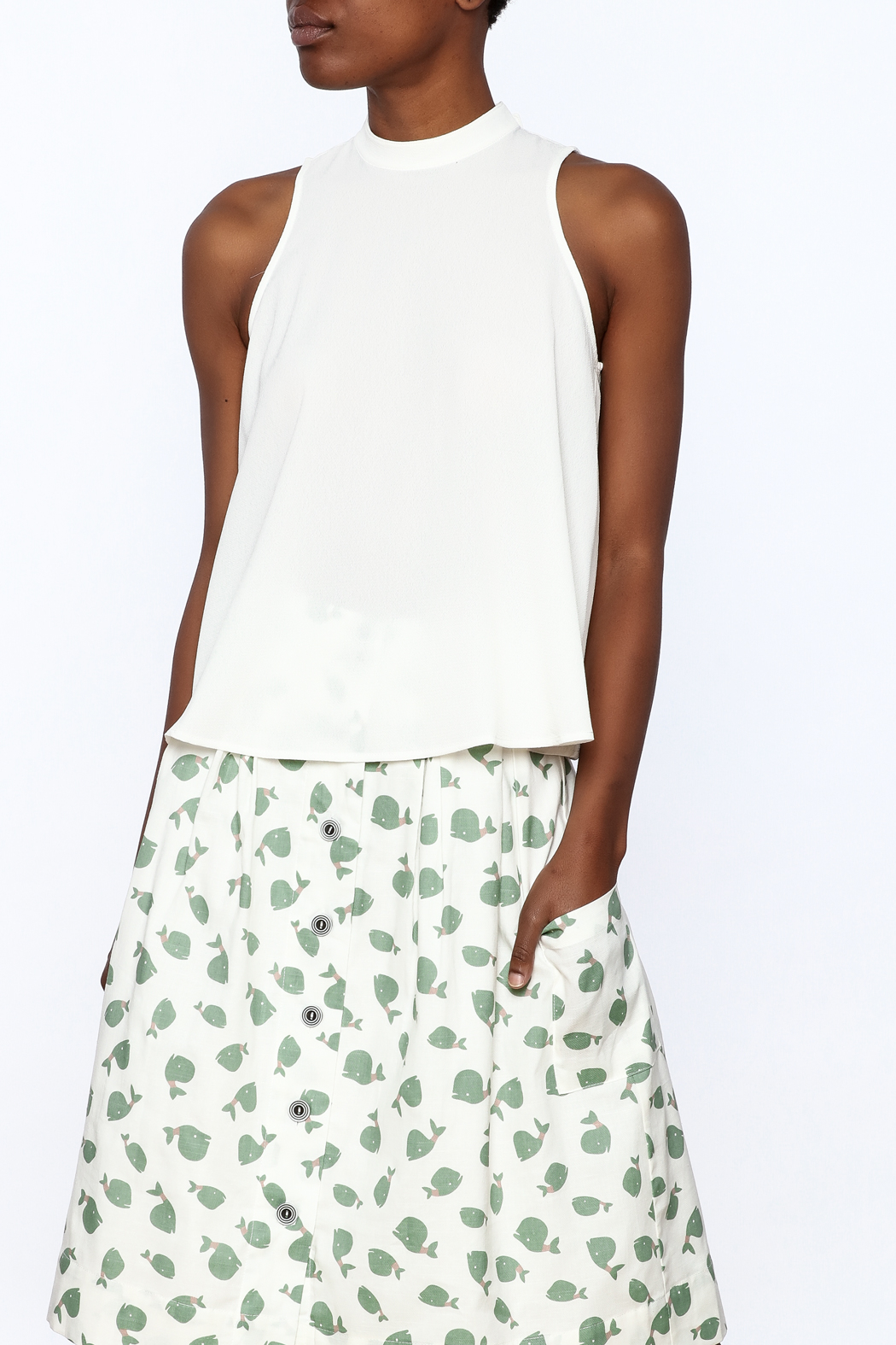 HYFVE Sleeveless Tulip Top - Front Cropped Image
