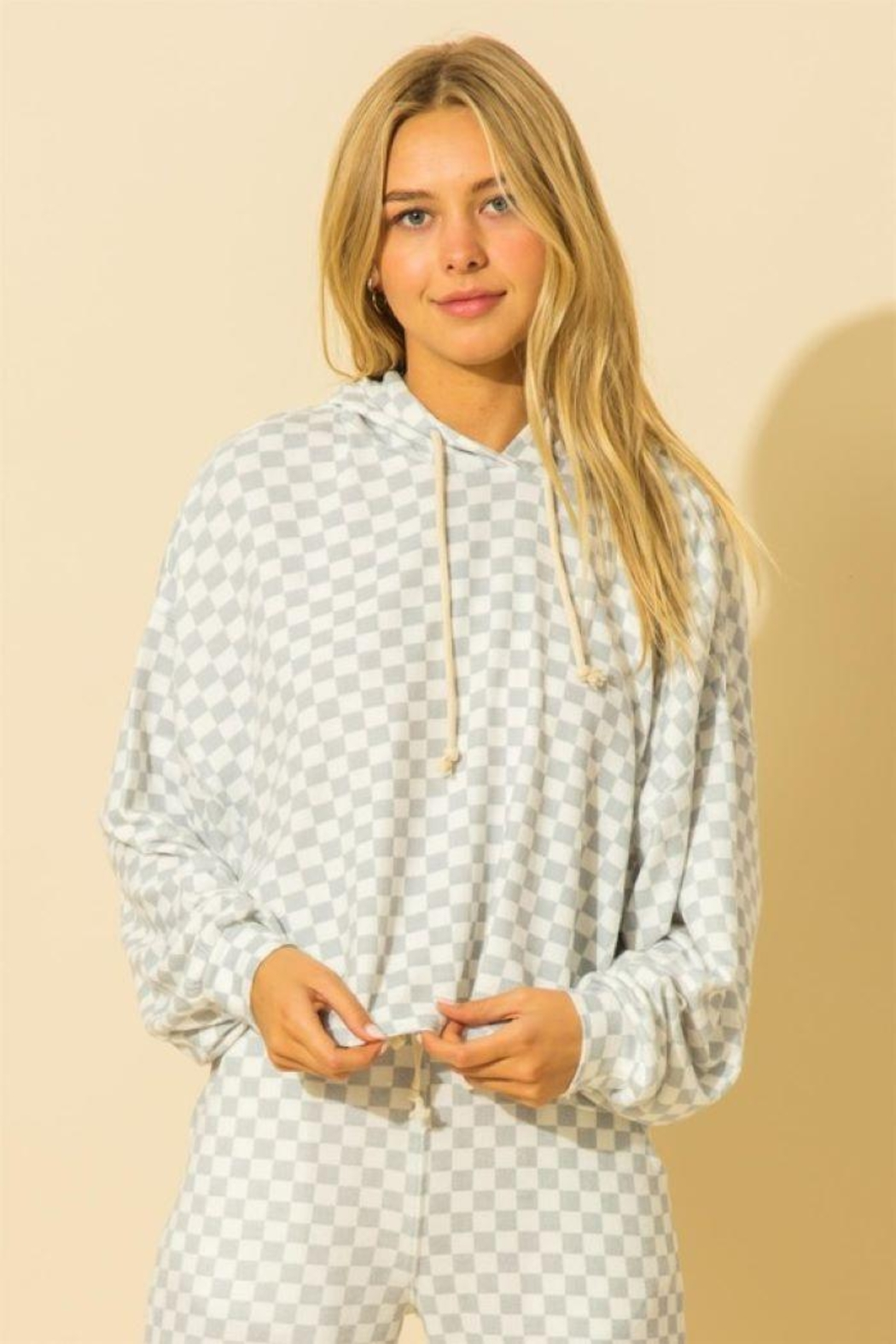 HYFVE Oversized Balloon Sleeve Hoodie - Front Cropped Image