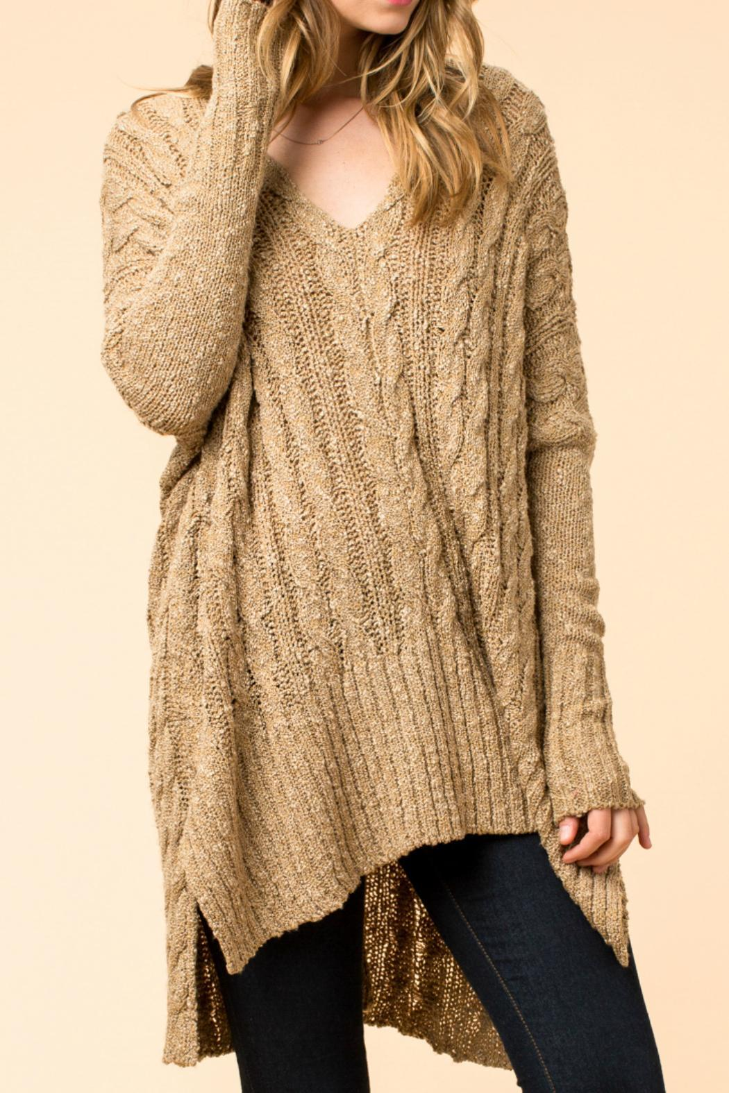 HYFVE Oversized Cable Knit Sweater from New York by Chandeliers ...