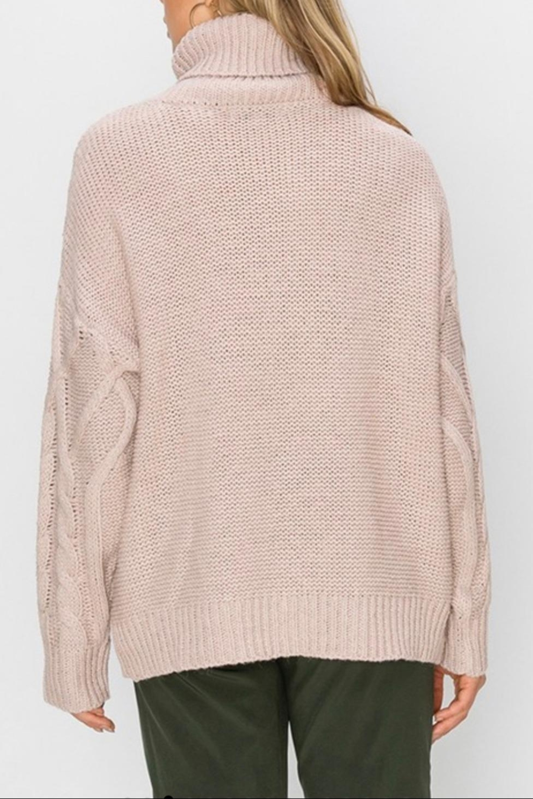 HYFVE Oversized Cable-Knit Sweater - Front Full Image