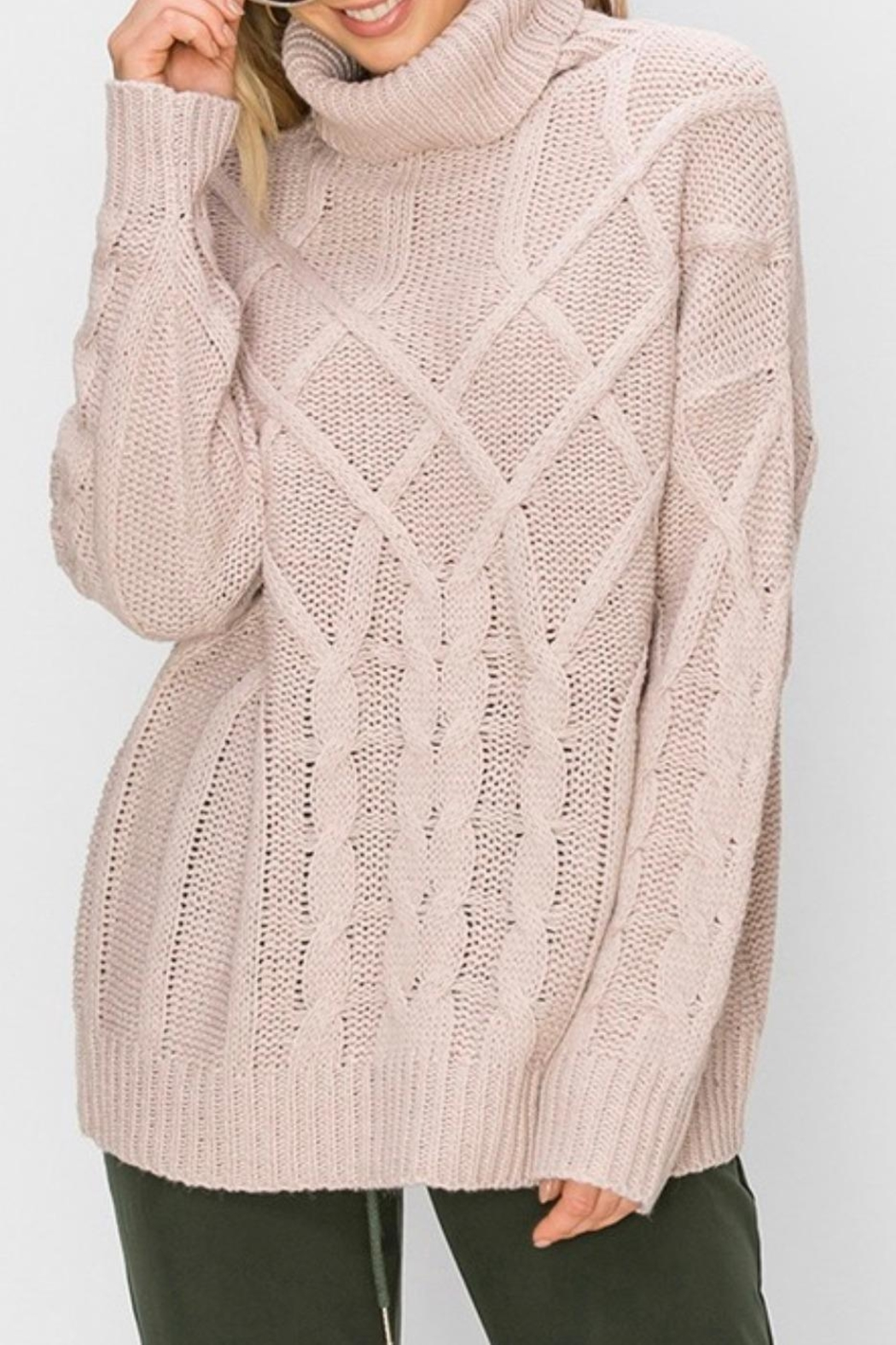 HYFVE Oversized Cable-Knit Sweater - Main Image