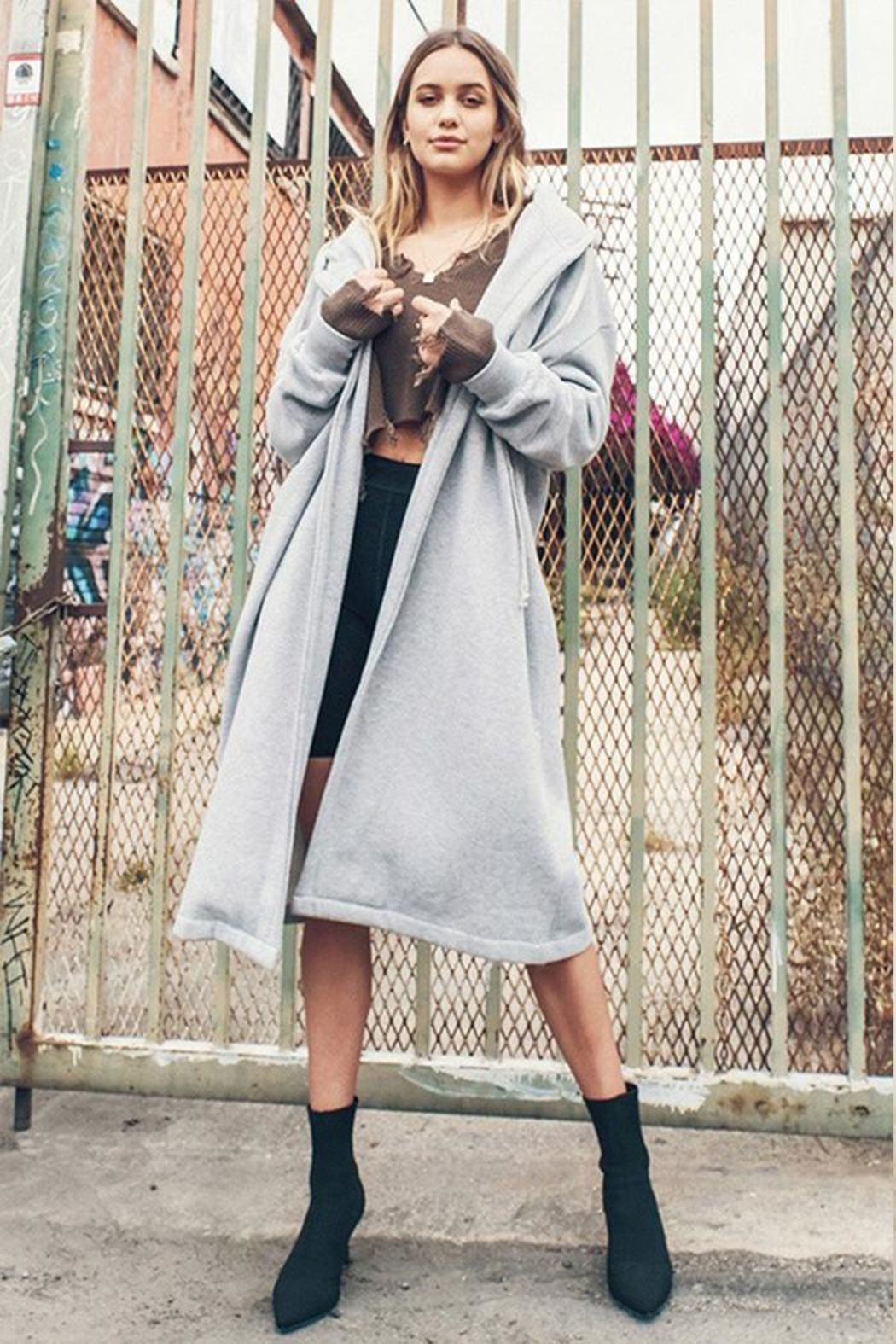 HYFVE Oversized Hooded Cardigan - Main Image