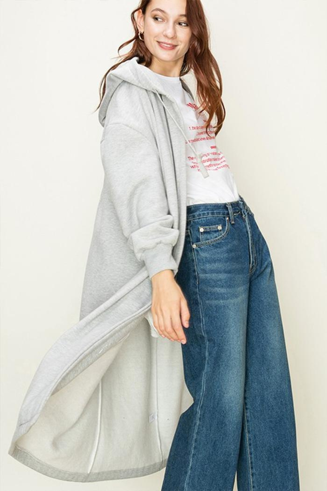 HYFVE Oversized Hooded Cardigan - Front Full Image