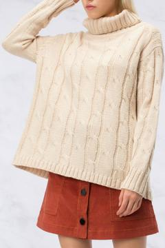 Shoptiques Product: Pink Criss Cross Sweater