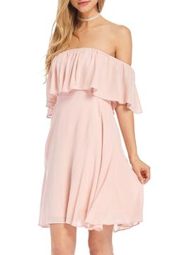 Shoptiques Product: Pink Off-Shoulder Dress