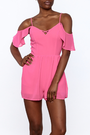 HYFVE Pink Ruffle Romper - Front cropped