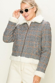 HYFVE Plaid Fur Jacket - Product Mini Image
