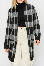 HYFVE Plaid Maxi Open-Sweater - Front cropped