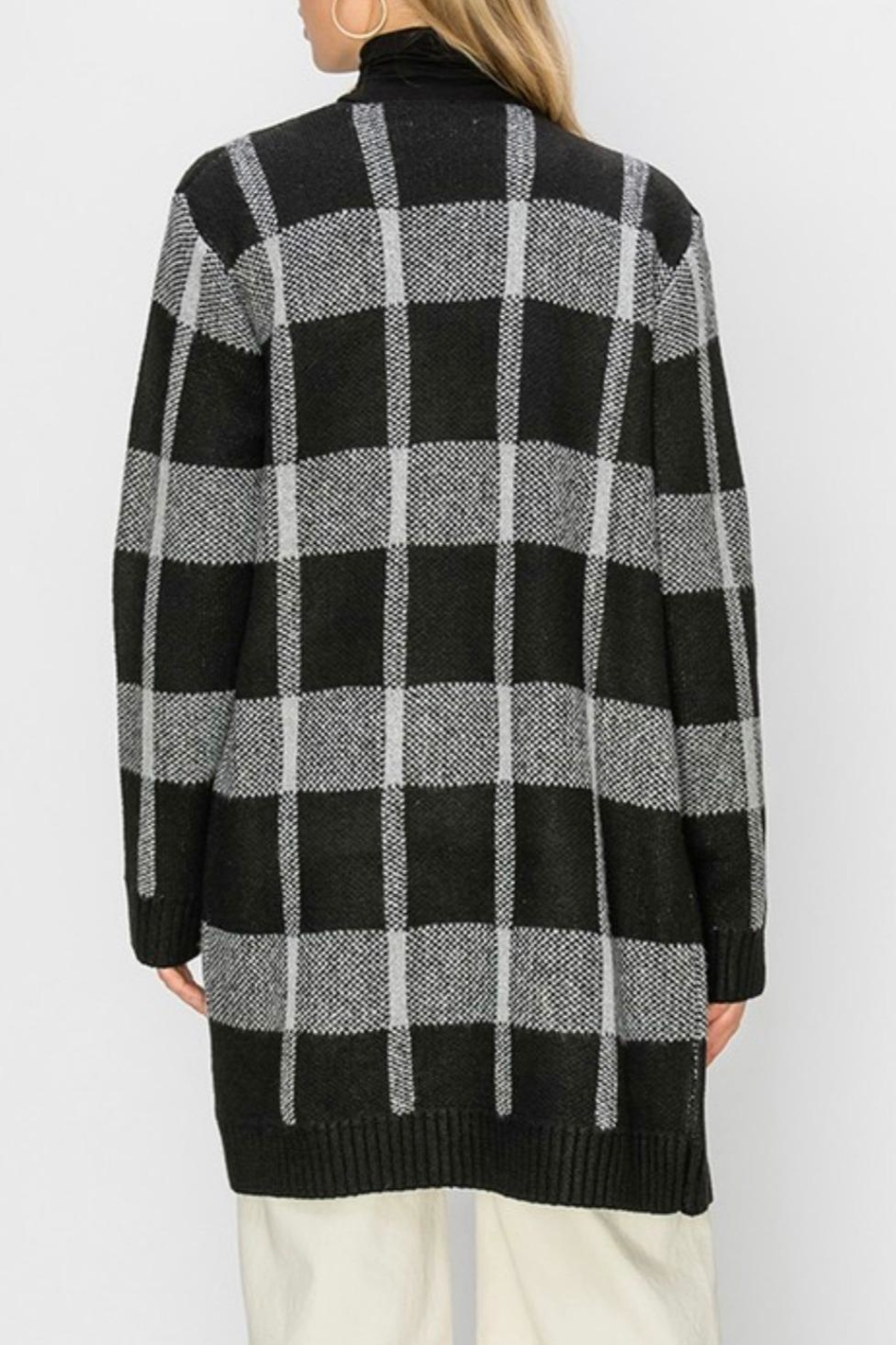HYFVE Plaid Maxi Open-Sweater - Side Cropped Image