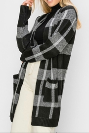 HYFVE Plaid Maxi Open-Sweater - Front full body