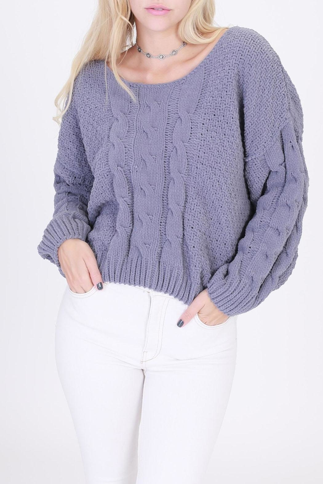 HYFVE Pullover Cropped Sweater - Front Full Image