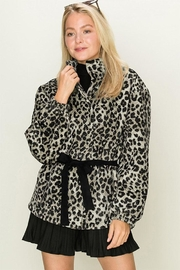 HYFVE Quilted Cheetah Coat - Product Mini Image