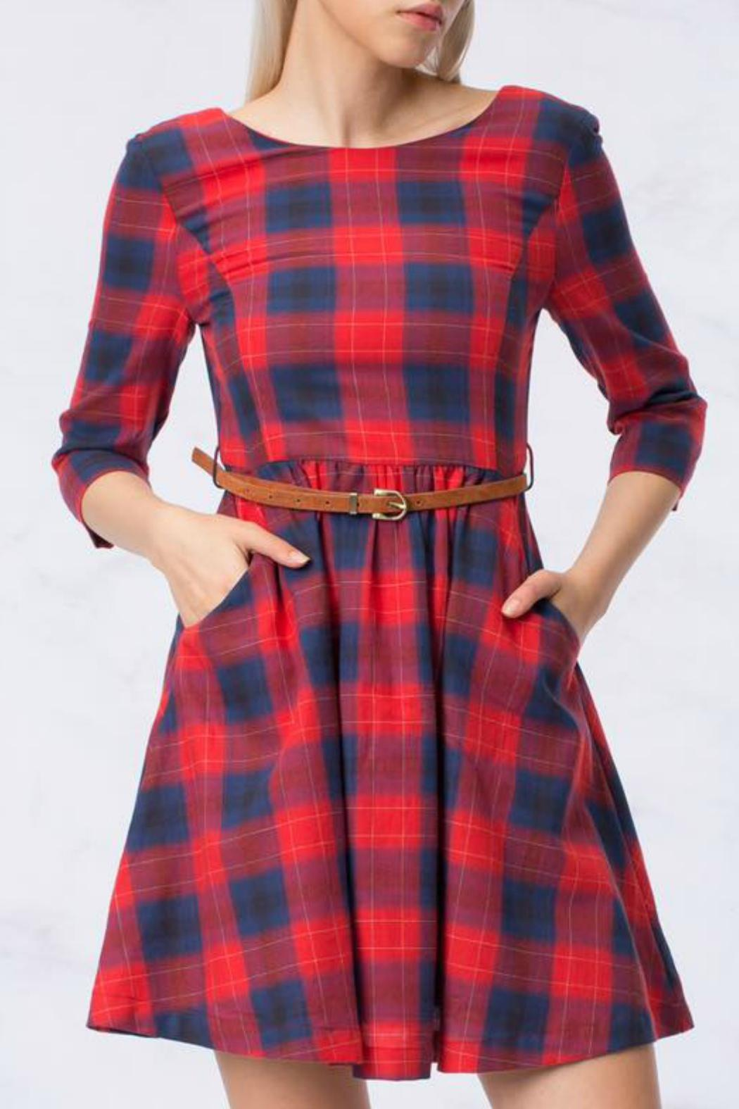 HYFVE Plaid Dress - Main Image
