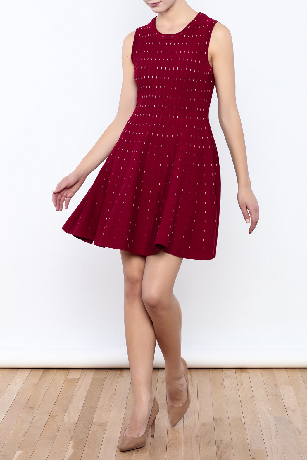 HYFVE Red Dress - Front Full Image