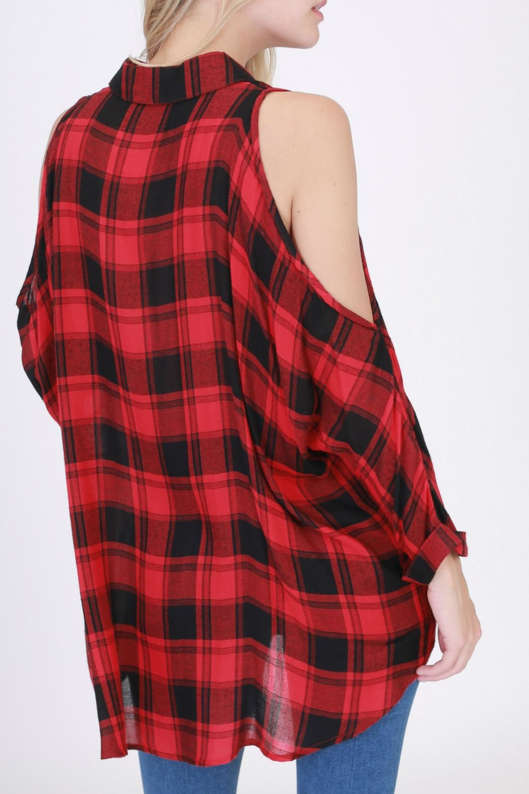 HYFVE Red Flannel Shirt - Front Full Image