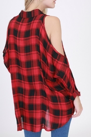 HYFVE Red Flannel Shirt - Front full body