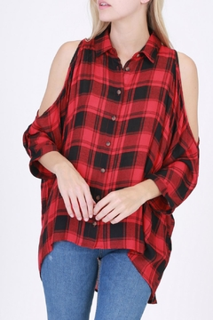 Shoptiques Product: Red Flannel Shirt