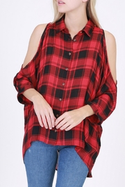 HYFVE Red Flannel Shirt - Front cropped