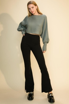 Shoptiques Product: Ribbed Crop Sweater Top